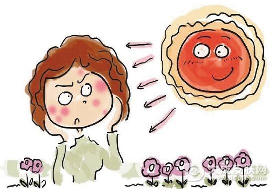 晒斑的症状表现